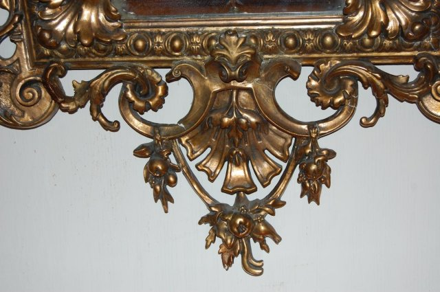 Outstanding French Giltwood Cushion Mirror