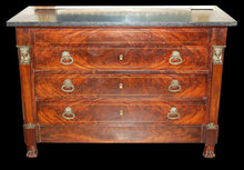 Fine French Empire Mahogany Commode