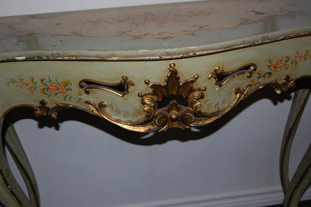 Venetian Lacquered Console & Mirror Set