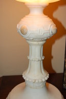 French Sculpted Marble & Alabaster Lamp