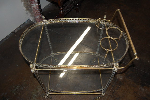 French Bronze Tea Cart