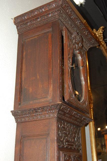 Oak Country French Longcase Clock