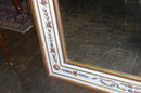 French Empire Painted & Gilded Mirror