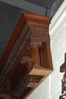 Impressive Carved Walnut Architectural Piece