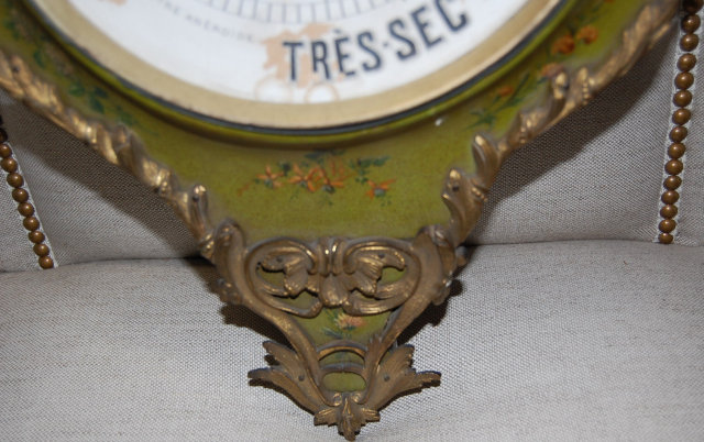 19th Century French Hand Painted Barometer