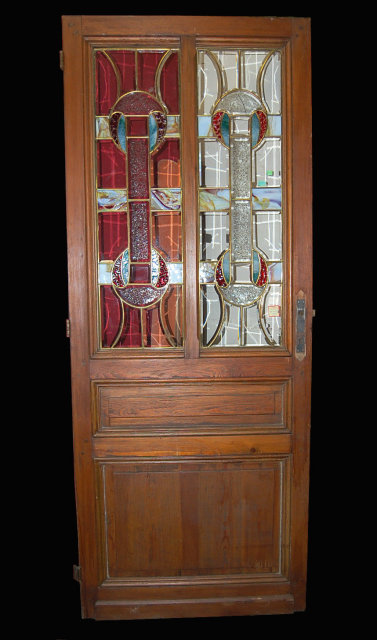 French Stained Glass Door