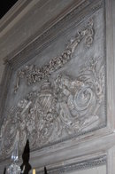 French Style Carved & Painted Trumeau