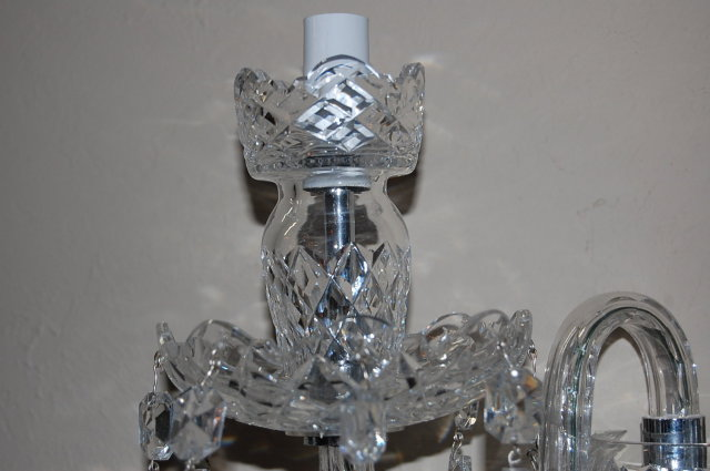 Pair of Waterford Style Crystal Wall Sconce