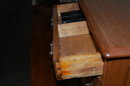 American Walnut Salesman Sample Chest