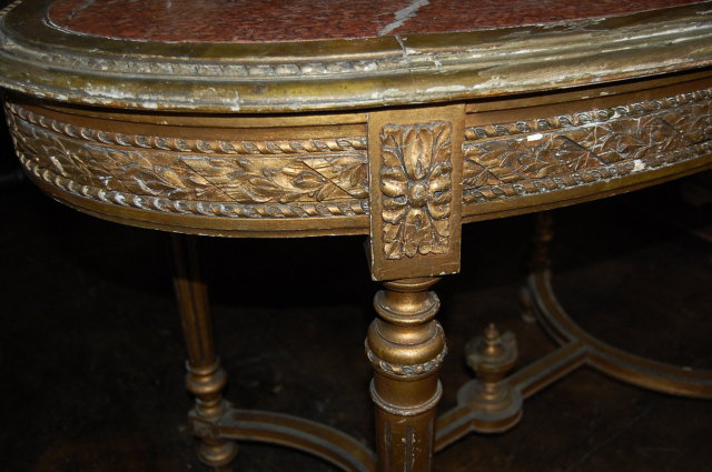 19th Century French Giltwood Occasional Table
