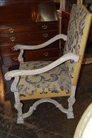 Finely Carved French Transitional Armchair