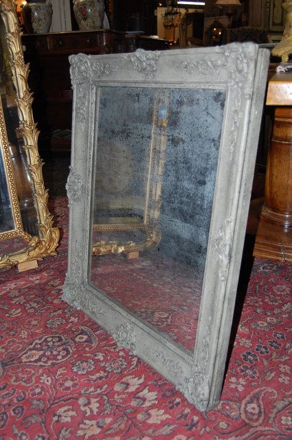 Antique French Lacquered Mirror