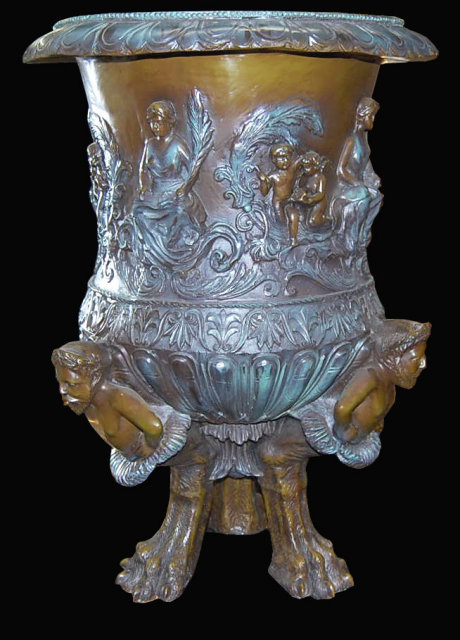 19th Century Continental Bronze Jardiniere
