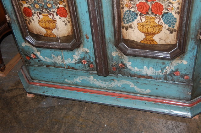 19th Century German Hand Painted Cupboard
