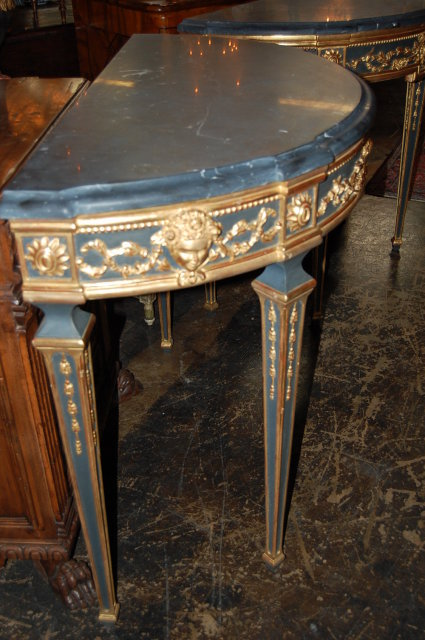Pair of Giltwood & Painted Consoles