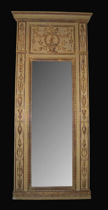 19th Century French Relief Sculpted Mirror