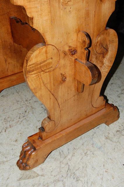South German Maple Trestle Table