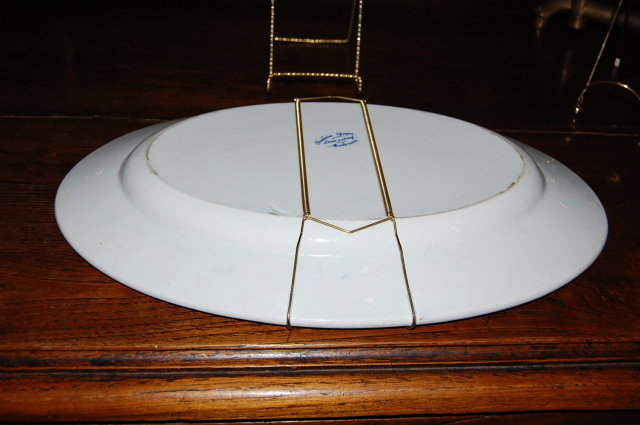 French Blue & White Porcelain Platter