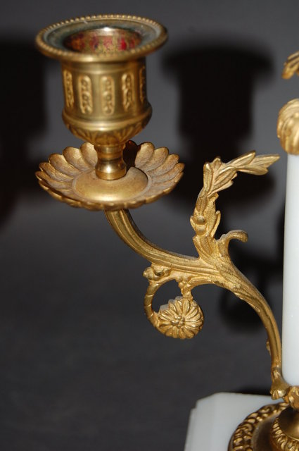 Pair of French Louis XV Marble Candelabra