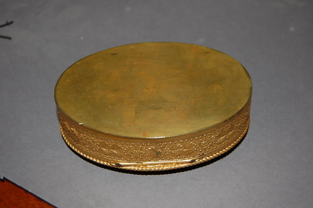 19th Century French Bronze Pill Box