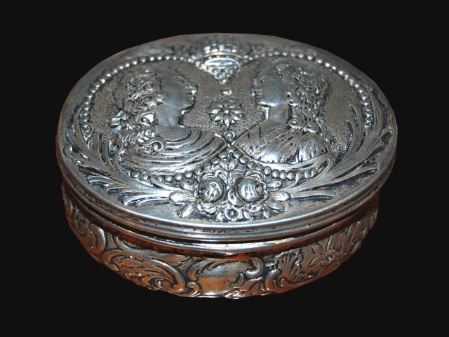 Continental Silver Embossed Box