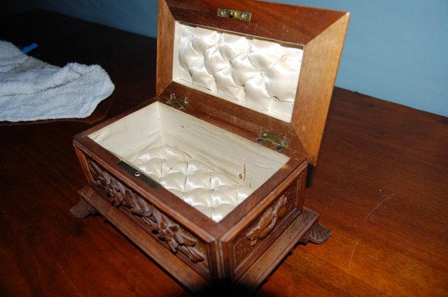 Hand Carved Swiss Walnut Cigar Box