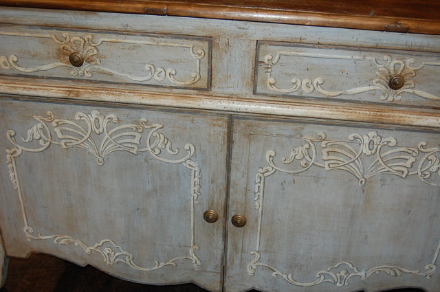 French Style Painted Buffet