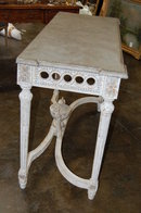 French Painted & Carved Wood Console
