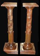 Pair of 19th Century French Walnut Pedestals