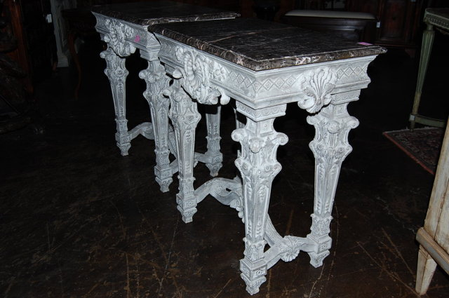 Pair of Italian Carved Occasional Tables