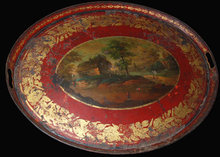 Early 19th Century French Painted Tole Tray