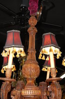 19th Century French Carved Wood Chandelier