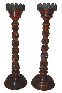 Pair of Carved Candlesticks