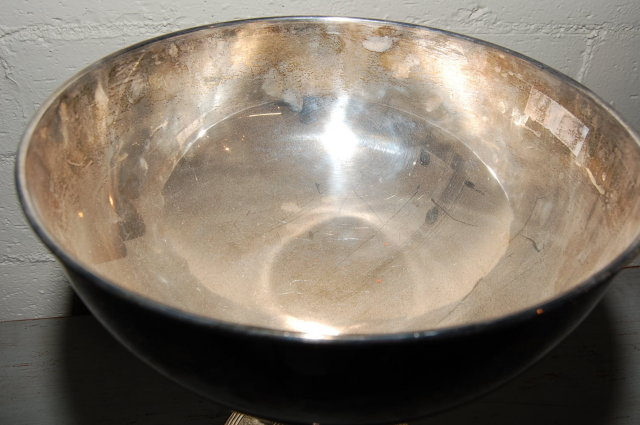 Decorative Silver Plate Punch Bowl
