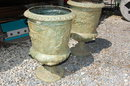 Impressive Pair of Bronze Urns