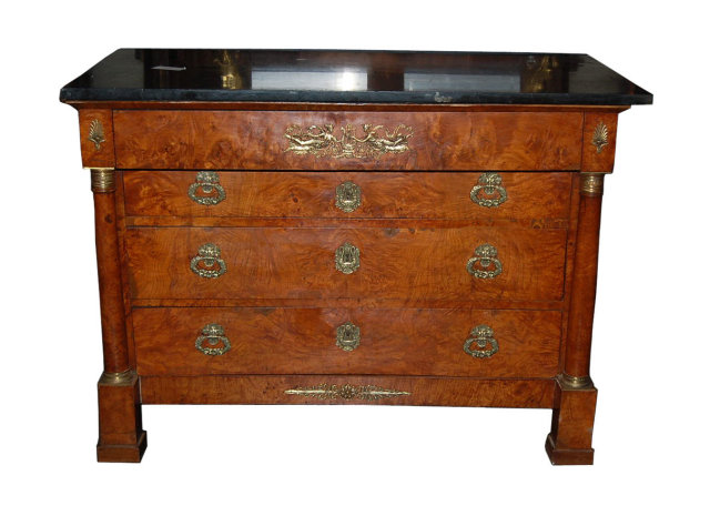 Outstanding French Empire Commode