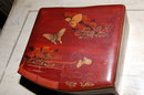 Oriental Red Lacquered Box