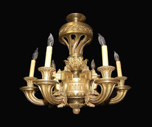 Heavy Bronze French Chandelier