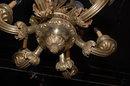 Heavy Bronze French Chandelier