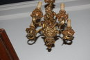 Petite Cast Bronze Louis XV Chandelier