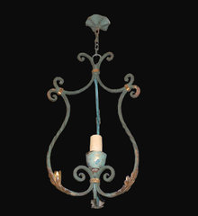 Rustic French Iron Chandelier