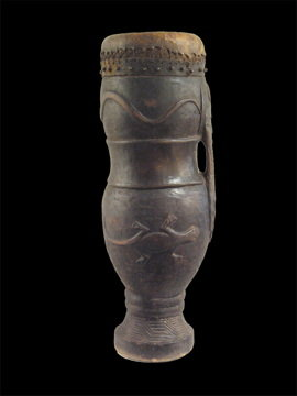 African Tribal Art Court Drum