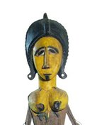 Vintage African Tribal Art Masquerade Puppet