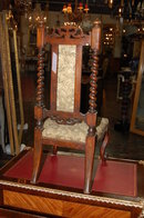 Victorian Walnut Child's Chair