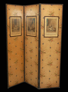 Vintage French Dressing Screen