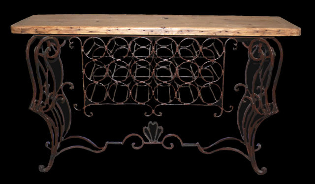 Rustic Wine Tasting Table