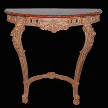 Painted Lime-Wood Console