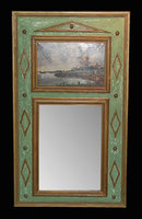Decorative French Painted Trumeau