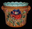 Antique French Majolica Planter