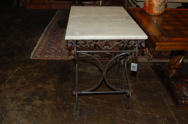 French Wrought Iron Pastry Table